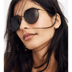 Madewell Fest Aviator Sunglasses True Black